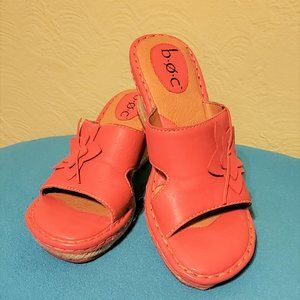 B.O.C Tangerine wedge sandal